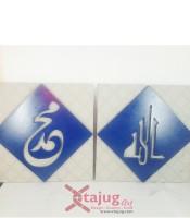 kaligrafi-old-kufi-tulisan-tenggelam-allah-muhammad-biruwallpaper